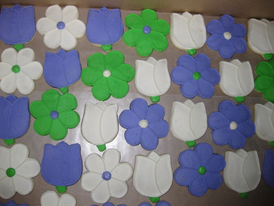 Flower Sugar Cookies on Cake Central