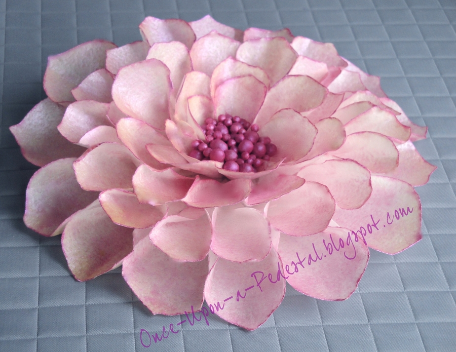 Pink Dahlia From Wafer Paper on Cake Central