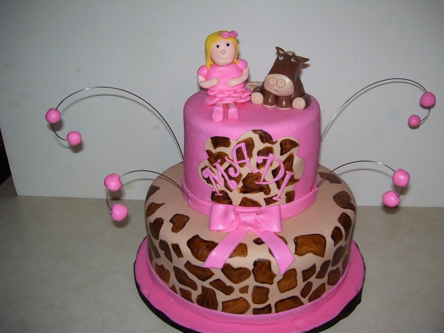 Madis Giraffe Print Cake CakeCentralcom