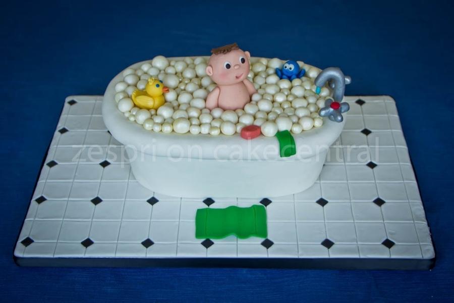Baby Bath Shower Cake - CakeCentral.com