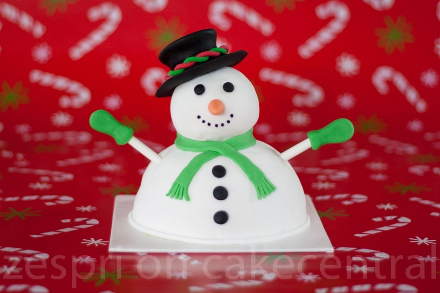 Snowman Christmas Cake  on Cake Central