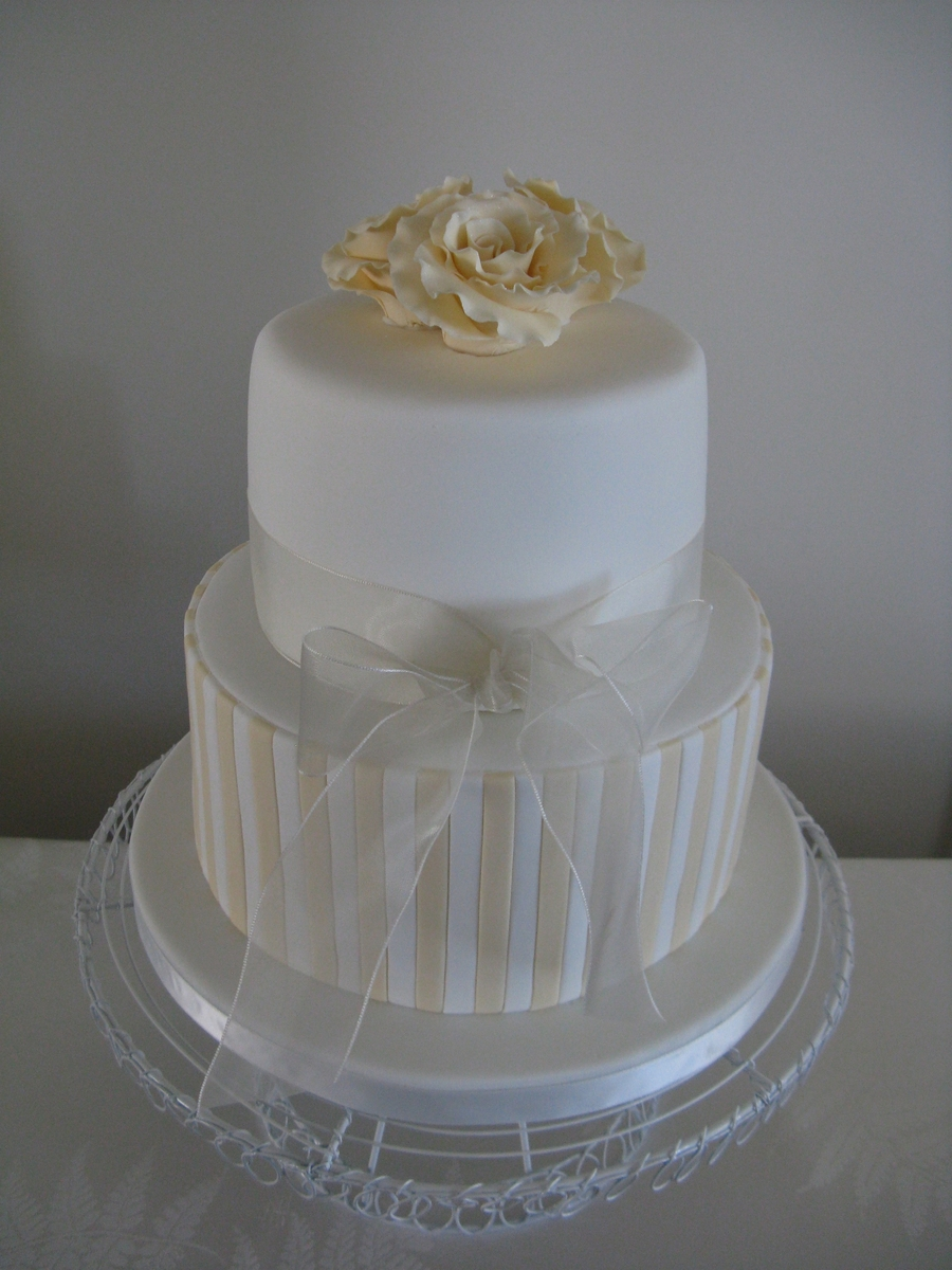 Champagne Wedding Cake  on Cake Central