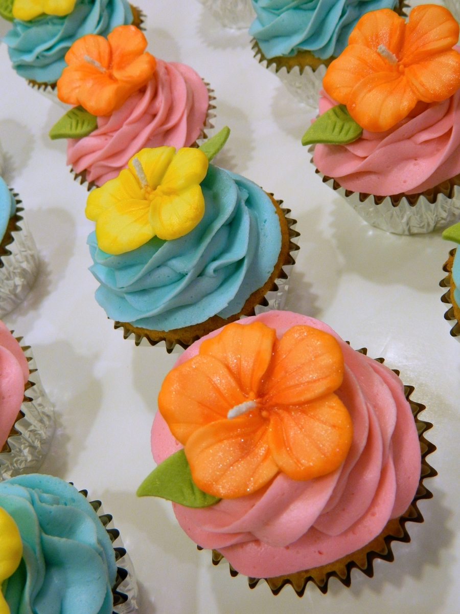 Hibiscus Cupcakes Cakecentral