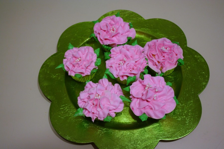 Pink Rose Cupcakes on Cake Central