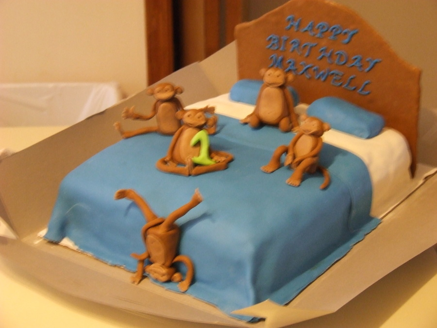 Quot 5 Little Monkeys Jumping On The Bed Quot Cakecentral Com