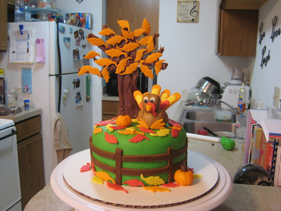 Turkey Day Cake on Cake Central