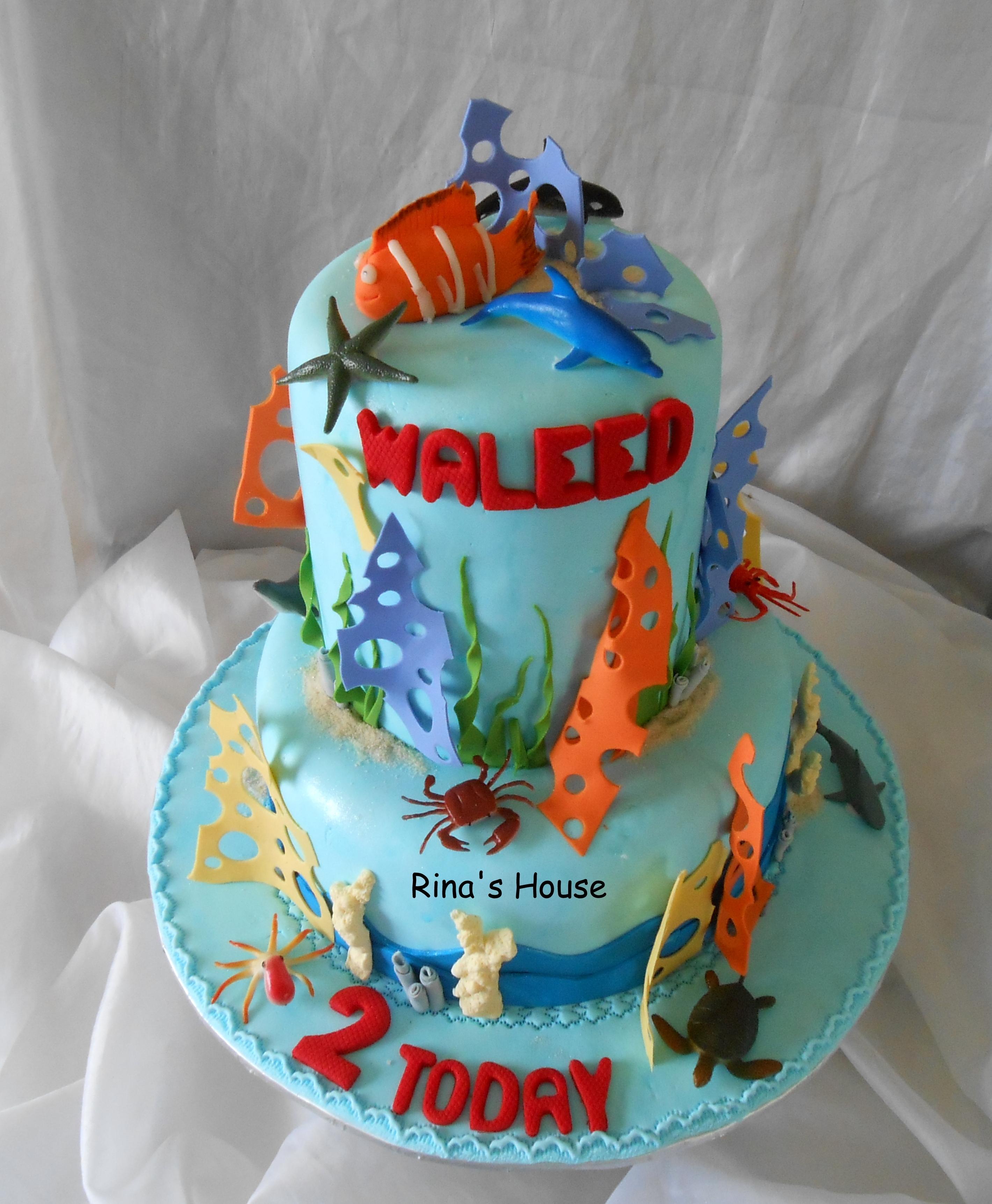 Vanilla Cake Decor : A Finding Nemo Themed Cake....vanilla Sponge Cakes, Top ...