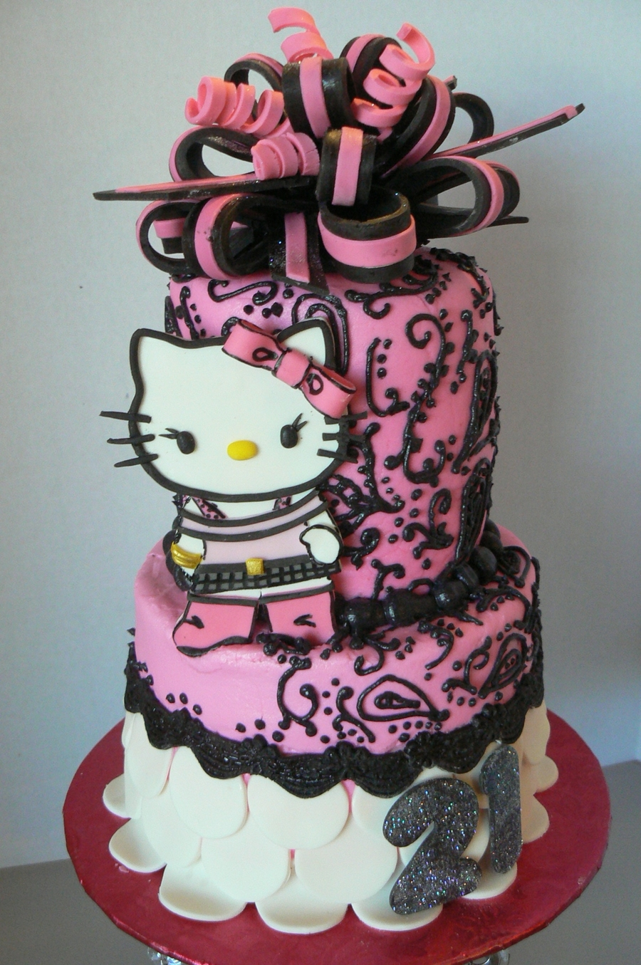 Hello Kitty Birthday Cake Cakecentral Com