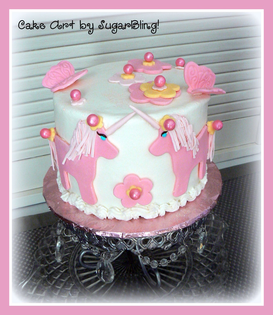 This Is A Little Chocolate Cake With Cookies And Cream Filling Frosted In Buttercream With Fondant Decorations And Pink Pearl Sixlets Tha  on Cake Central