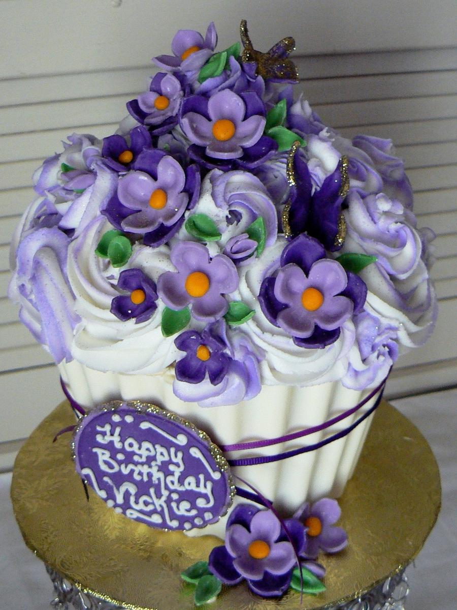 Giant Cupcake Decorating Ideas Birthday : Giant Cupcake Birthday Cake - CakeCentral.com