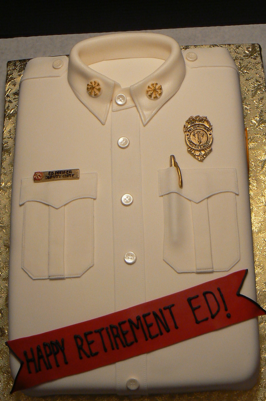 Fire Department Retirement on Cake Central
