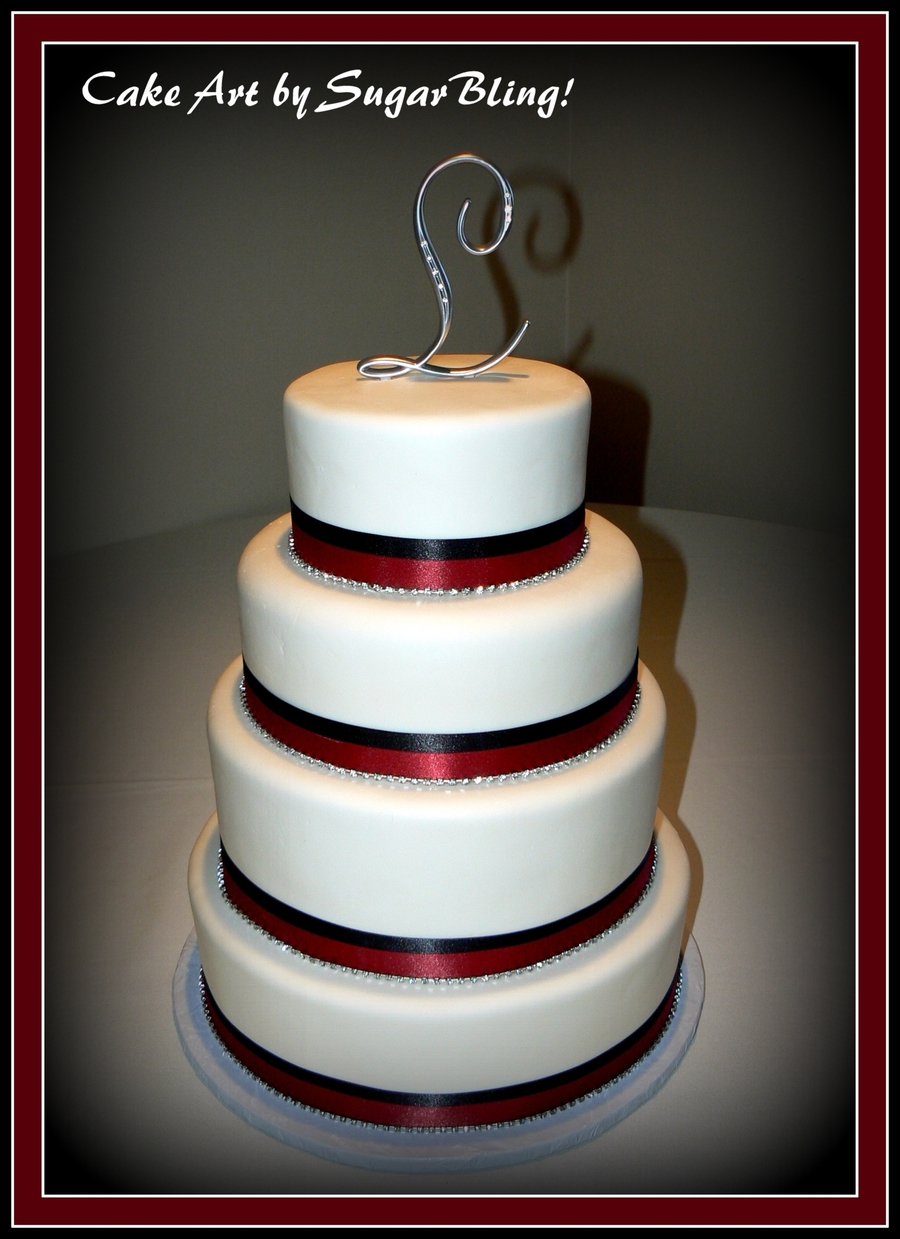 Red And Black Ribbons on Cake Central