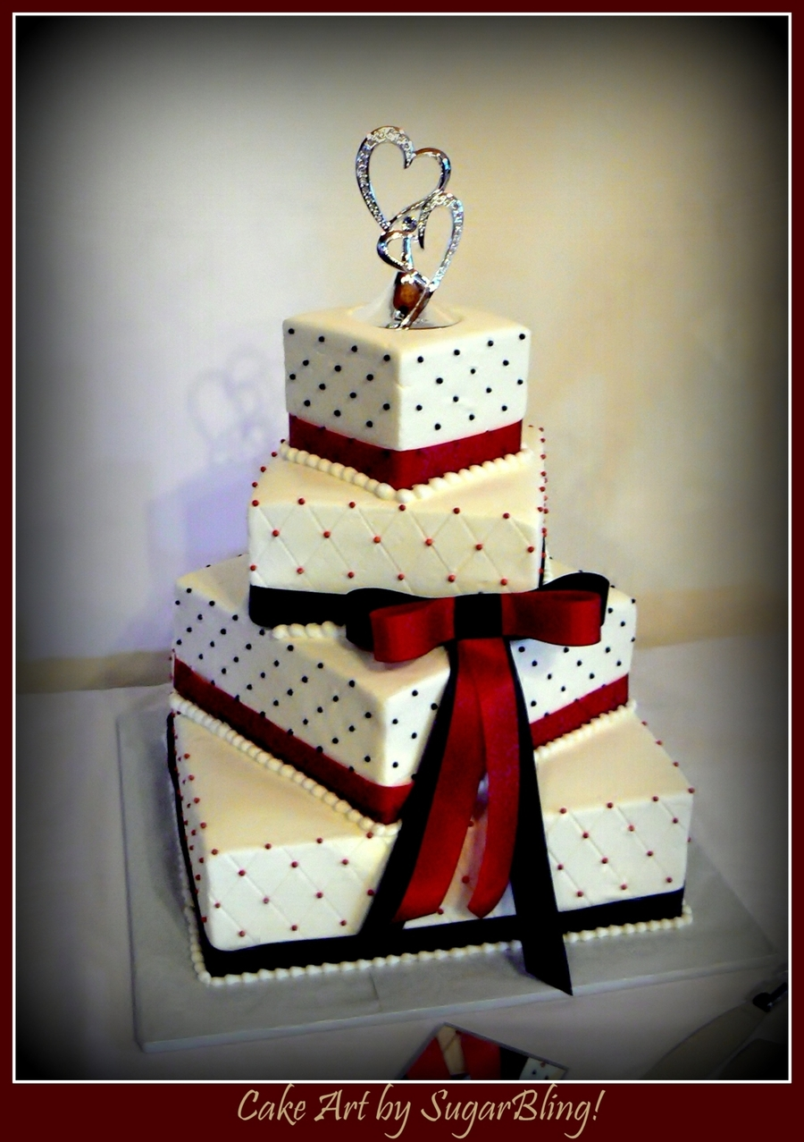 red and black wedding cakes and black wedding cake cakecentral 19069