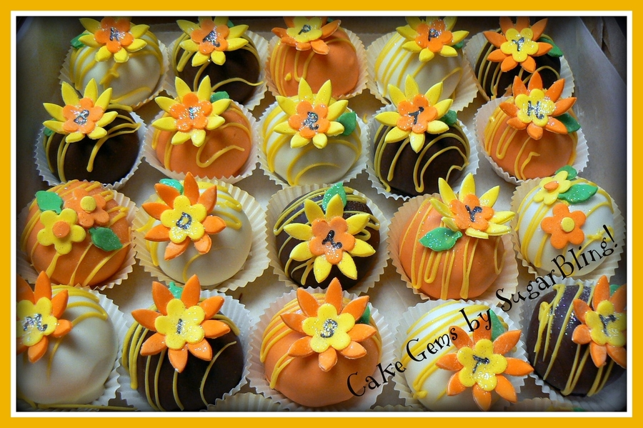 Daisy Cake Balls  on Cake Central