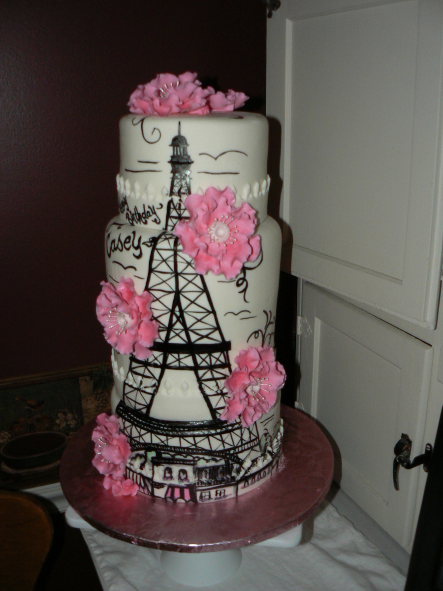 My Daughter Saw A Picture Of A Cake Made By Tjensen Of Sifted Bakery And Asked Me To Make It For Her Birthday I Tried To Do It Justice I M... on Cake Central