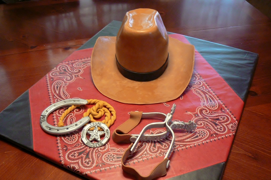 I made this cake for my Hubby s birthday - he s a cowboy at heart. The hat  is the cake - 3 oval layers of chocolate cake with peanut butter filling bcc4509795a