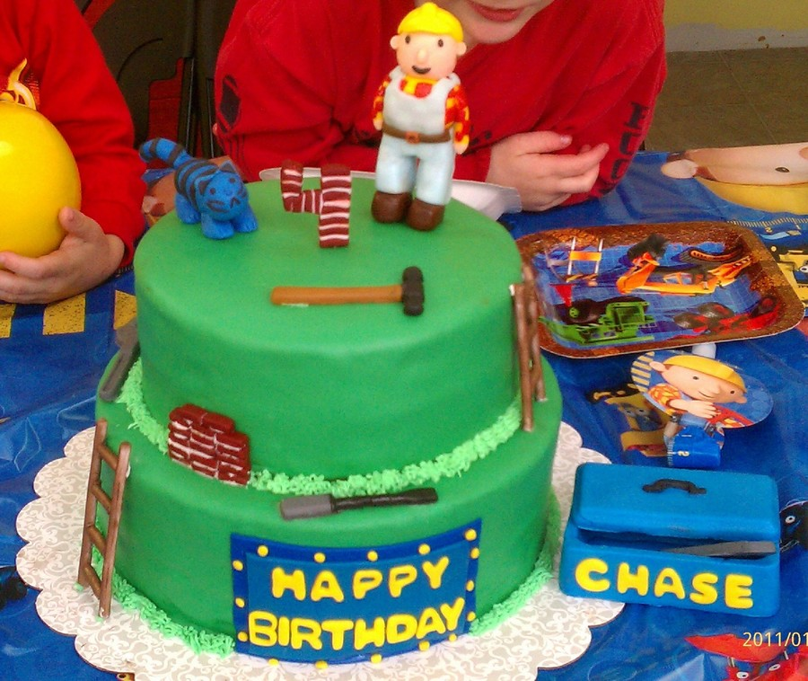 Sensational Bob The Builder Cakecentral Com Funny Birthday Cards Online Elaedamsfinfo