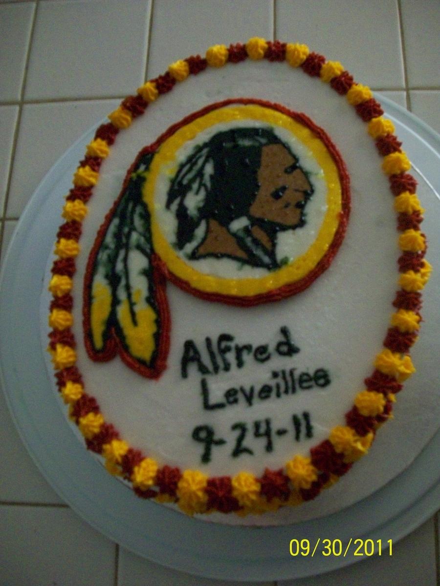Redskins Happy Birthday Cake