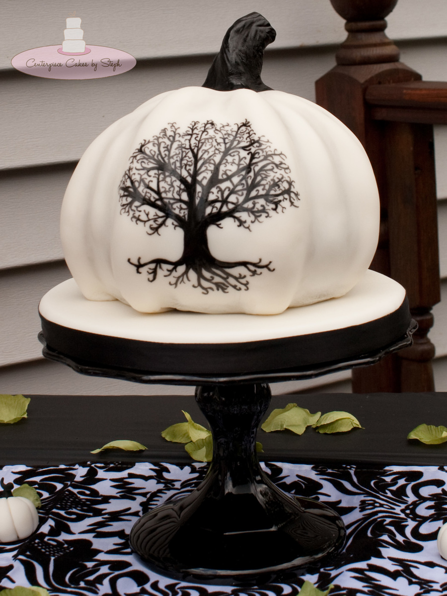 Tree Of Life On A White Pumpkin Cakecentral Com