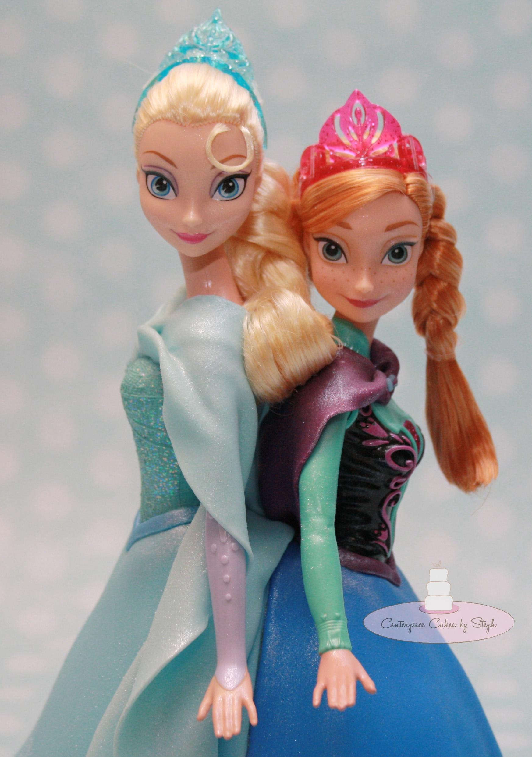 Elsa Anna Barbie Cake