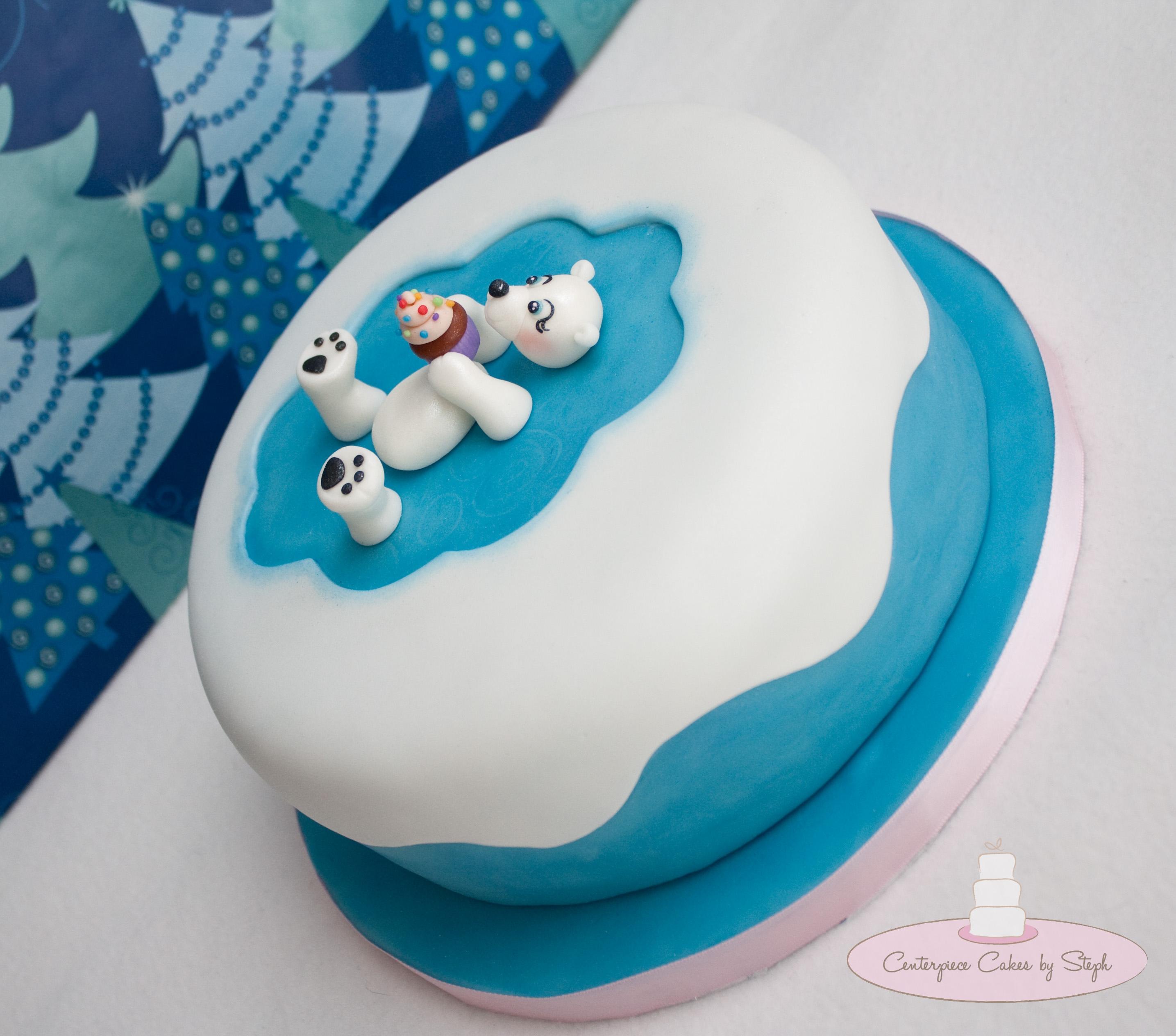 Polar Bear Birthday Cake
