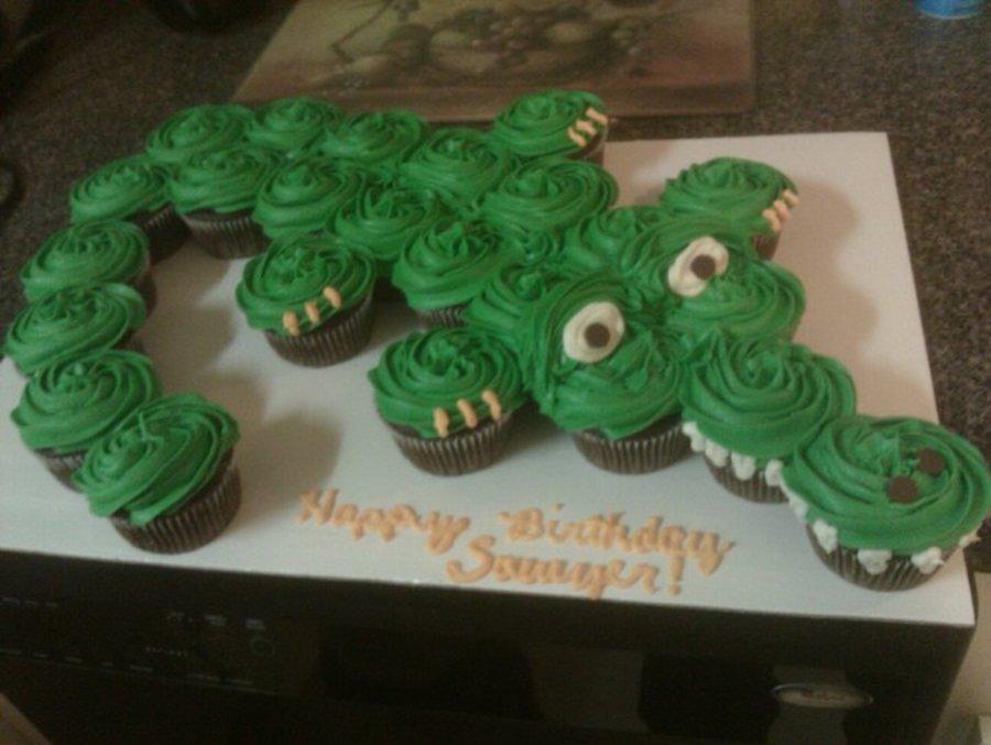 Elephant Shaped Cupcake Cake