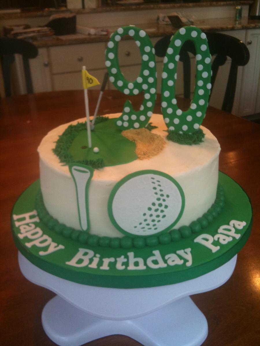 Sensational A Golf Cake For A 90Th Birthday Cakecentral Com Funny Birthday Cards Online Ioscodamsfinfo