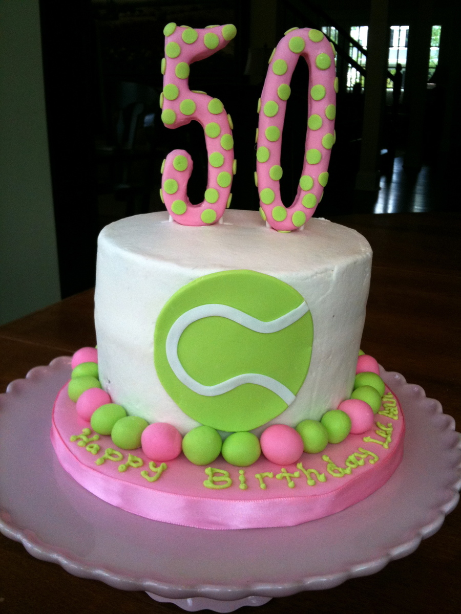 Cool 50Th Birthday Cake For A Tennis Player Cakecentral Com Personalised Birthday Cards Veneteletsinfo