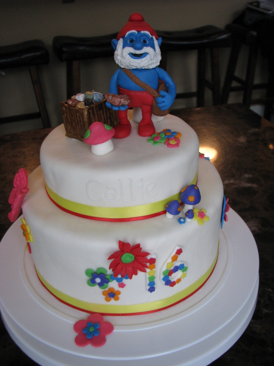 16Th Birthday Papa Smurf Cake CakeCentralcom
