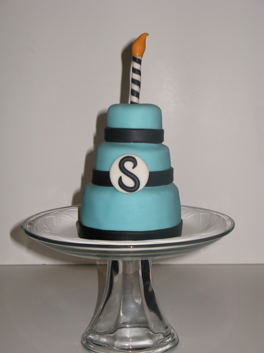 Mini Monogram Birthday Cake on Cake Central