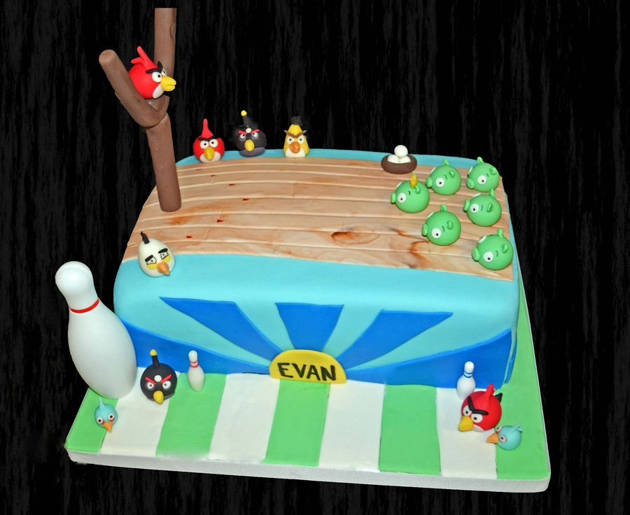 Angry Birds Bowling Cake on Cake Central