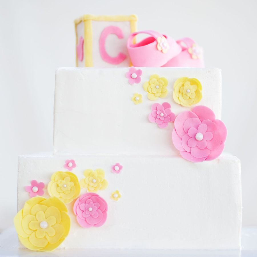 Vintage Baby Shower  on Cake Central