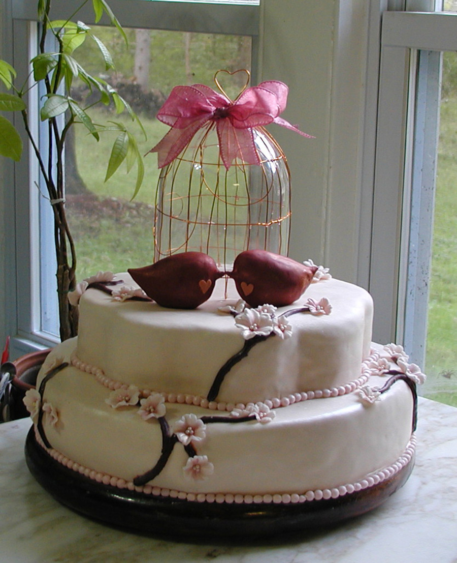 Cherry Blossom Bridal Shower Cake on Cake Central