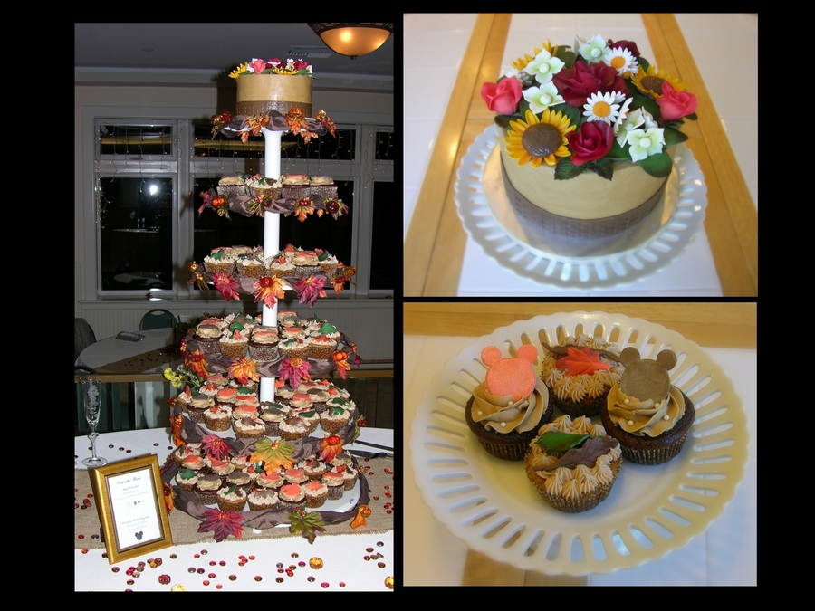 Fall Wedding Cupcake Tower on Cake Central