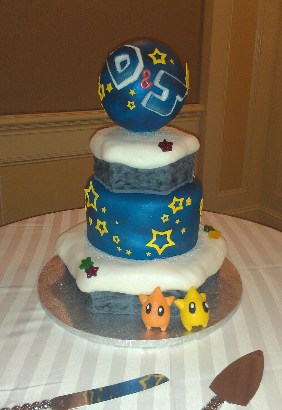 Mario Galaxy Winter Scene Inspired  on Cake Central