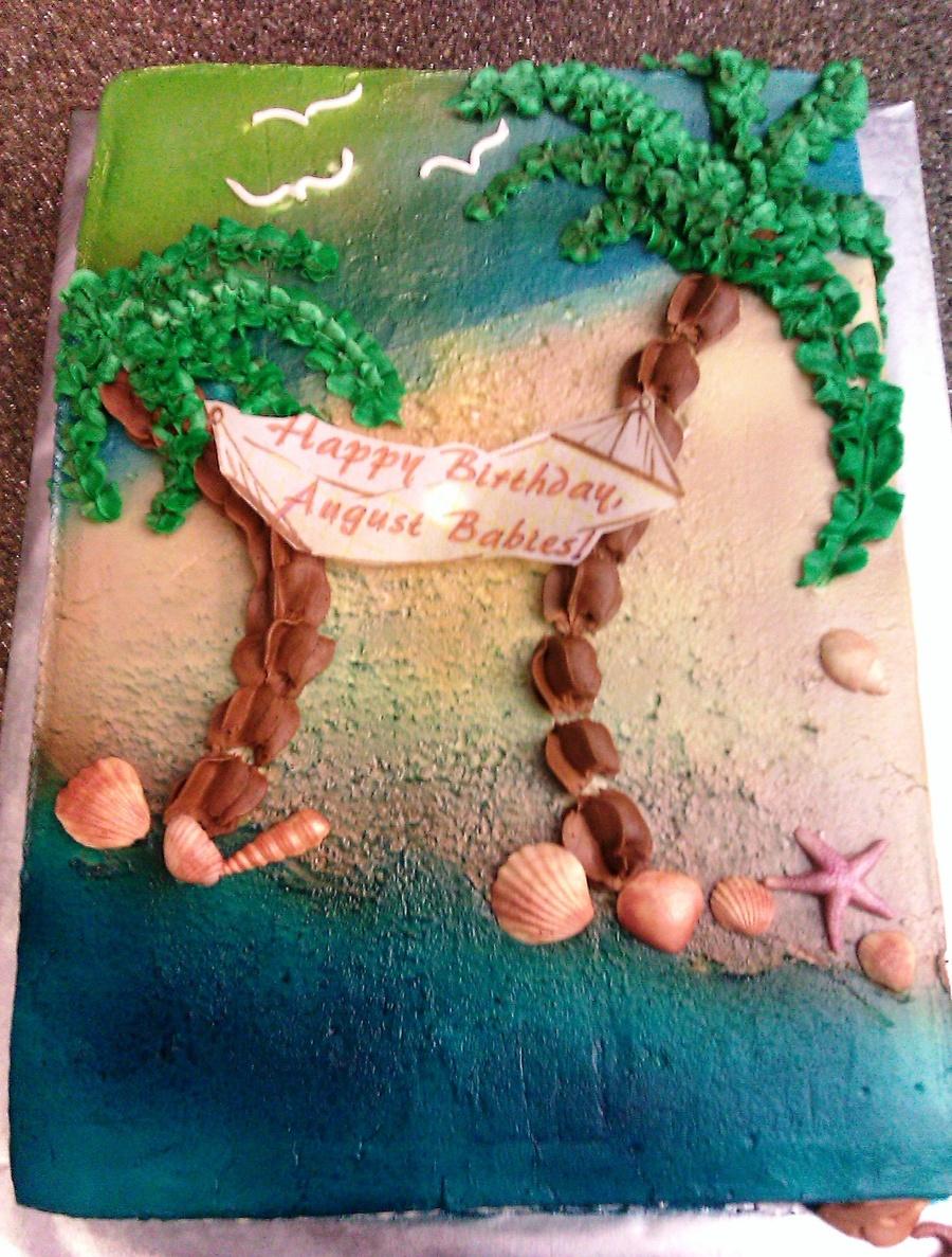 Tropical Beach Birthday Cake CakeCentralcom