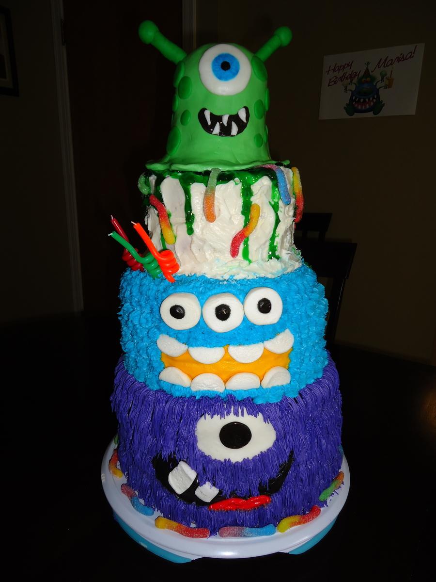 Cake Deco Mania : Monster Mania Cake - CakeCentral.com
