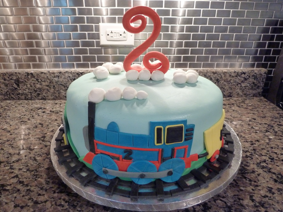 Thomas Themed Birthday Cake on Cake Central