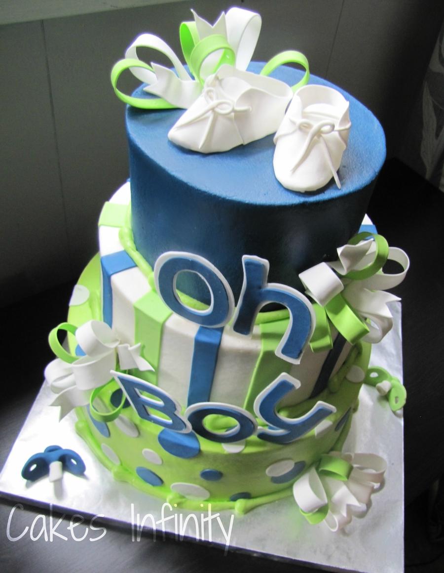 Oh Boy, Baby Shower Cake! - CakeCentral.com