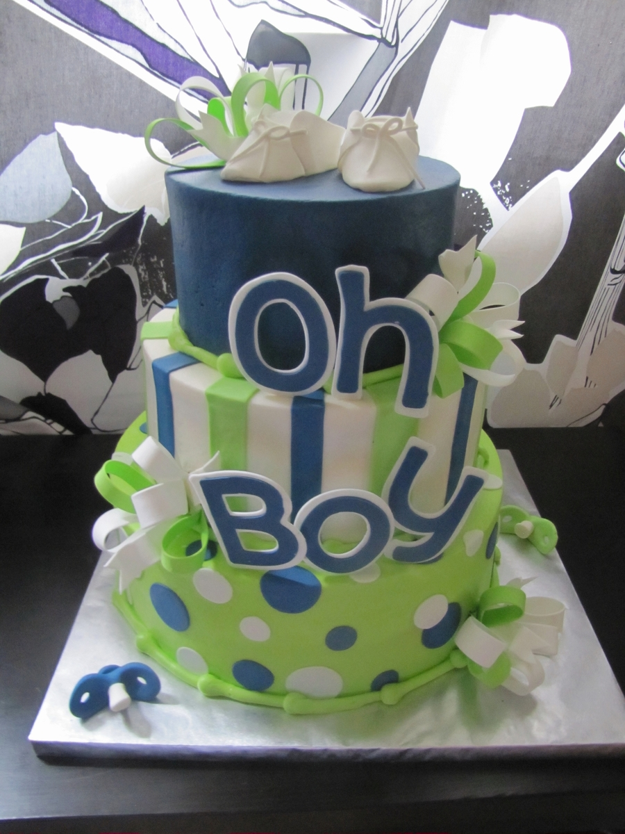 Images Of Baby Shower Cake For A Boy : Oh Boy, Baby Shower Cake! - CakeCentral.com