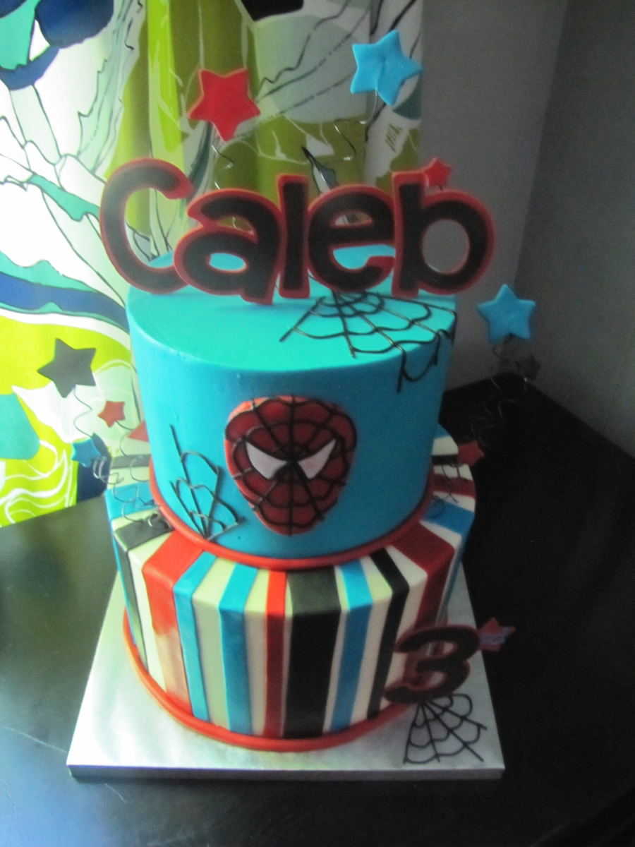 Spiderman Birthday Cake!  on Cake Central
