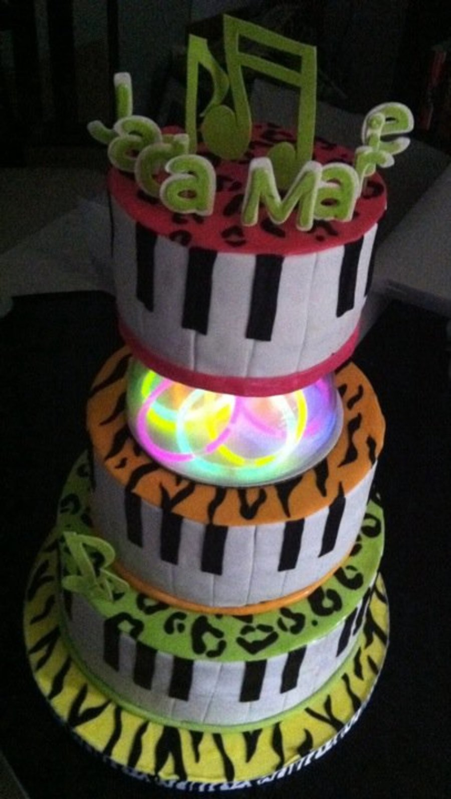 Miraculous Neon Birthday Cake Cakecentral Com Funny Birthday Cards Online Alyptdamsfinfo