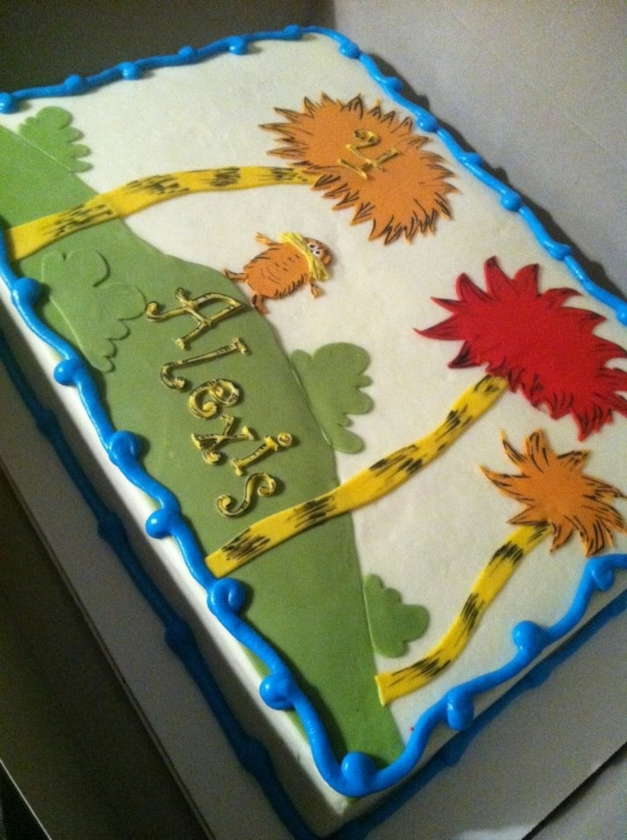 Lorax Birthday Cake! on Cake Central