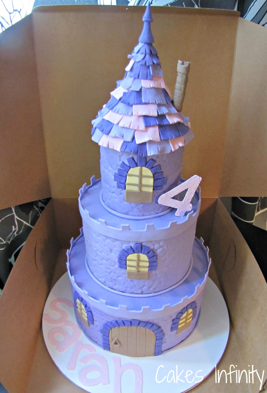 Tangled Castle Cake! on Cake Central