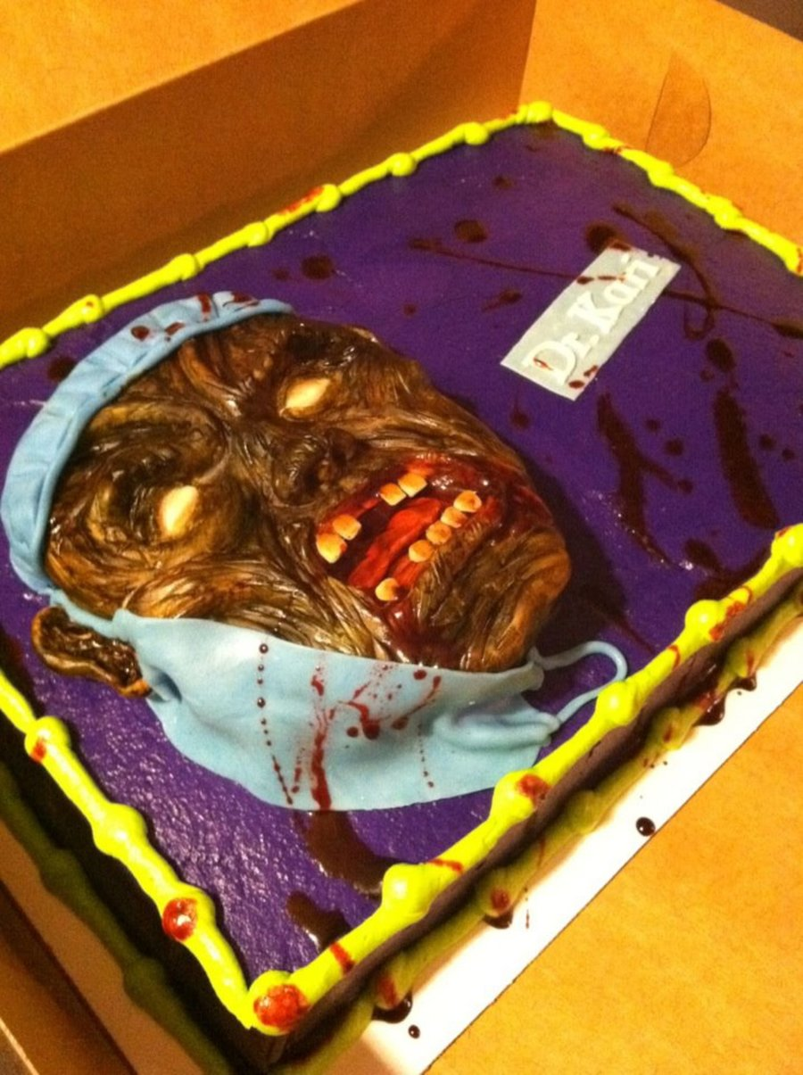 Zombie/halloween Birthday Cake! on Cake Central