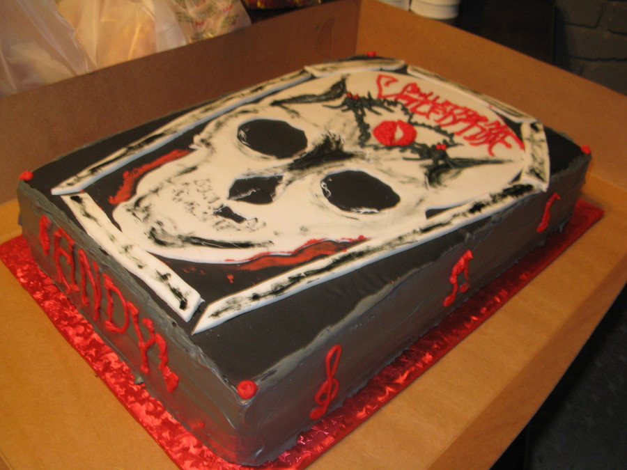 Bullet For My Valentine Birthday Cake  on Cake Central