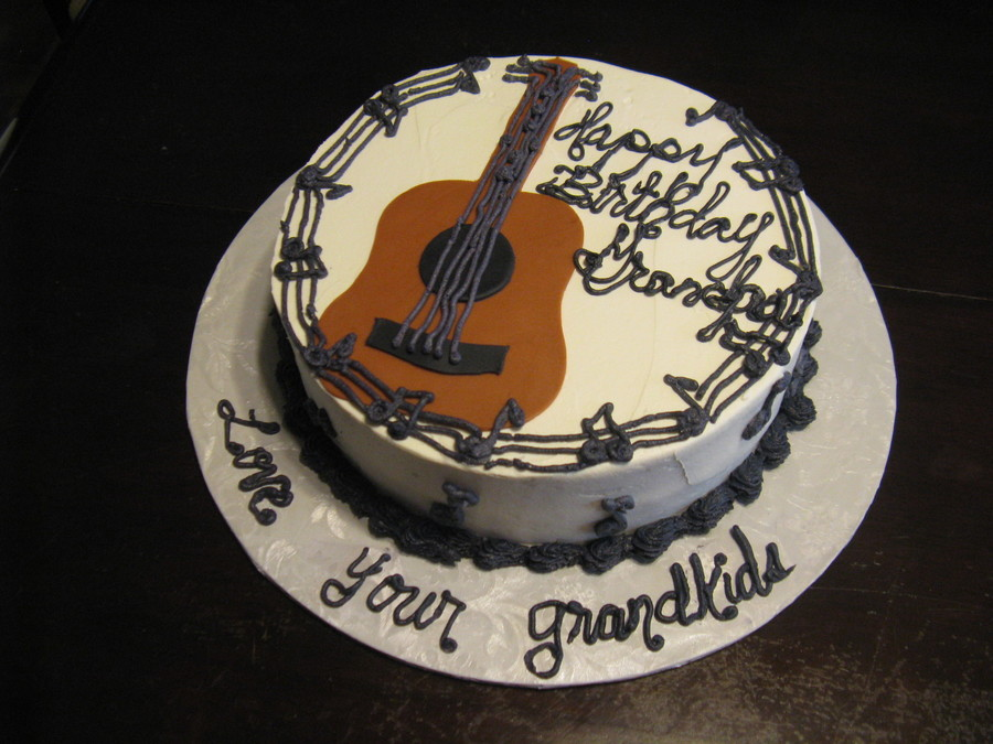 Tremendous Black White Guitar Birthday Cake Cakecentral Com Funny Birthday Cards Online Elaedamsfinfo