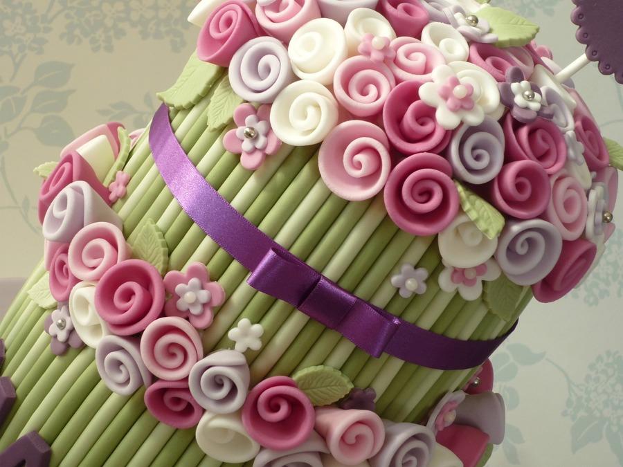 Rose Bouquet Birthday Cake Cakecentral Com