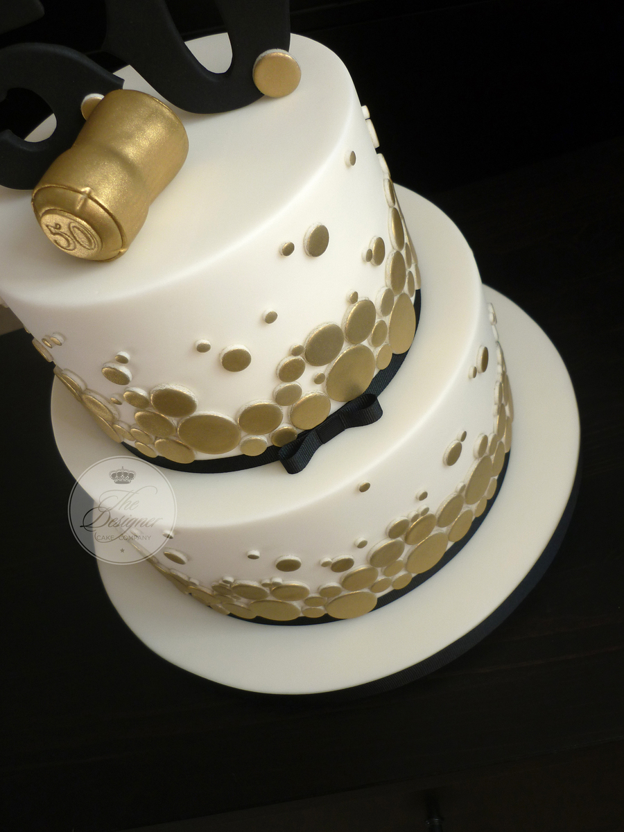 Th Birthday Cake Gold