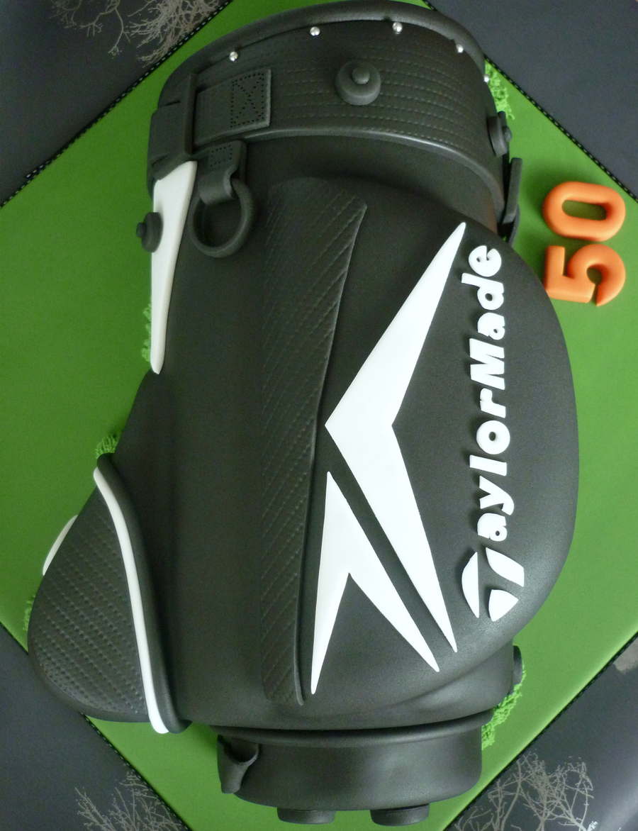 Golf Bag Birthday Cake on Cake Central